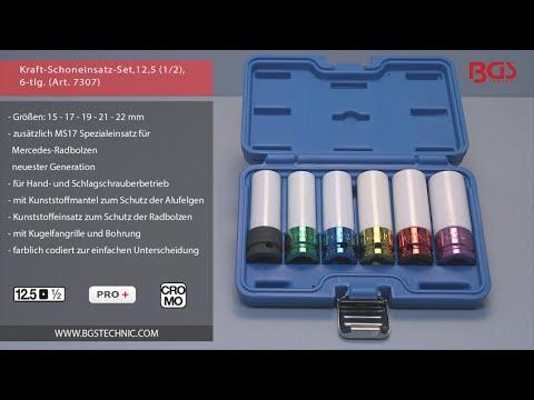 Schlagschrauber Nüsse 4-tlg 17-19-21-22-mm Alufelgen Schoneinsatz Schlagnuss