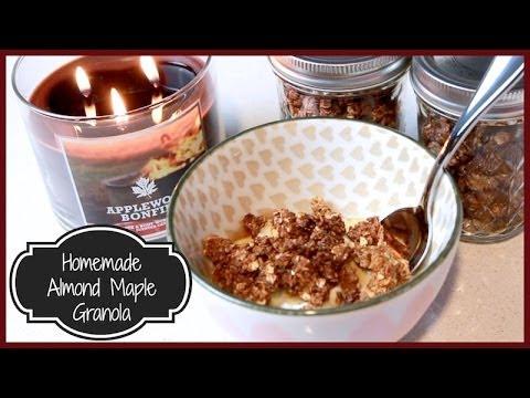 ♥ Homemade Almond Maple Granola ♥