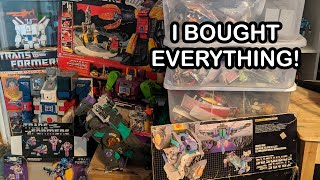 My Biggest Vintage Toy Haul Ever! - Buying An Entire G1 Transformers Collection
