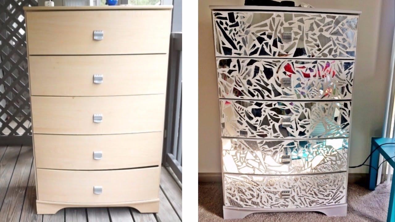 diy mirrored furniture. DIY Mirrored Dresser \u0026 Night Stands! Diy Furniture