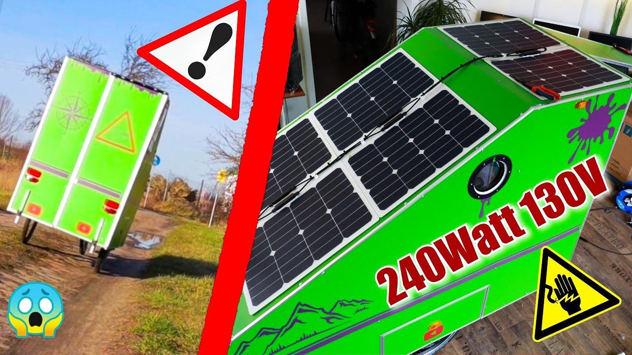 Hartetest Und Fette Solaranlage Am Minicamper Montieren F11