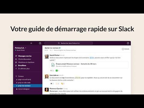 Votre guide de démarrage rapide sur Slack | Slack 101