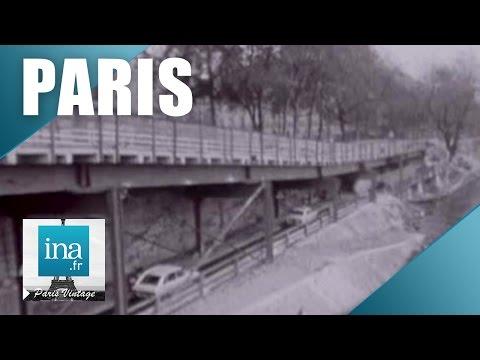 Les voies sur berge à Paris en 1967 : L'autoroute express   Archive INA