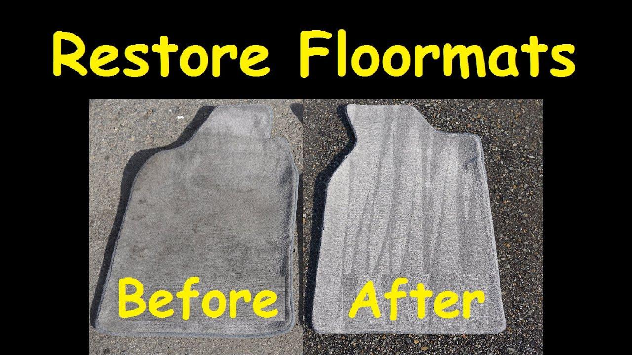 Clean Car Floor mats Rugs Dirty Carpet