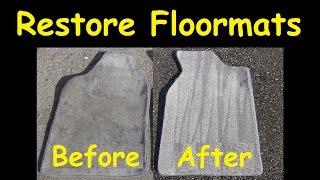 How To Clean Car Floor mats Rugs Dirty Carpet DIY Detailing Floormats 03 31 16