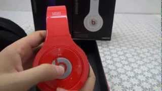 Monster Beats By Dr Dre Red  Bluetooth Wireless Studio Headphones