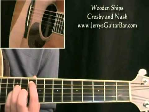 how to play david crosby wooden ships (intro only)