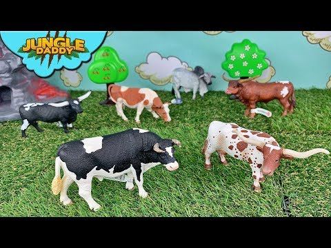 "Cows And Bulls Collection!! ""Skyheart Toys"" Schleich Cow Toys For Kids Safari Ltd"