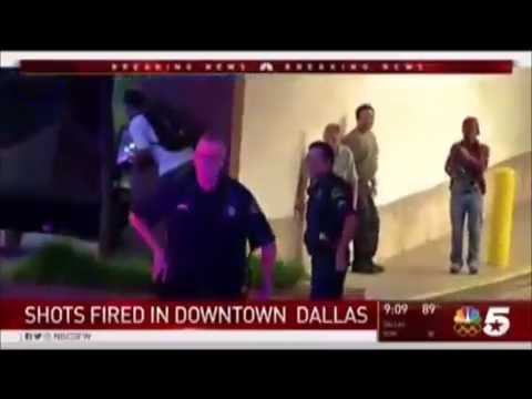 (KXAS) Dallas Police Shooting Initial Breaking News (July 7, 2016 / 9:05pm)