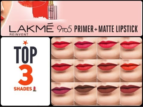 Lakme 9 To 5 Primer Matte Lipstick Review 30 Shades Youtube