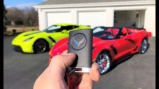Dad FINALLY Gets his DREAM CAR and His Reaction is PRICELESS!!! New Z06 in the Family...