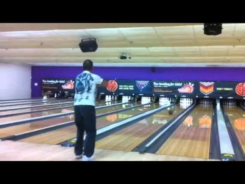 Chris Ondo using 16 LB BANK Pearl bowling ball
