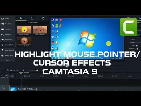 How To Highlight Mouse Pointer/Cursor Effects In Camtasia 9