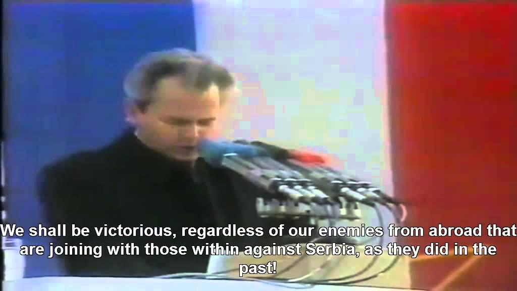 President Slobodan Milošević most patriotic speech, 1988, English - Слободан Милошевић Ушће 1988.