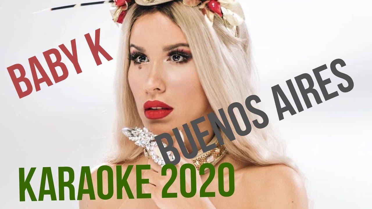 BABY K - BUENOS AIRES - KARAOKE ITALIANO 2020 - YouTube