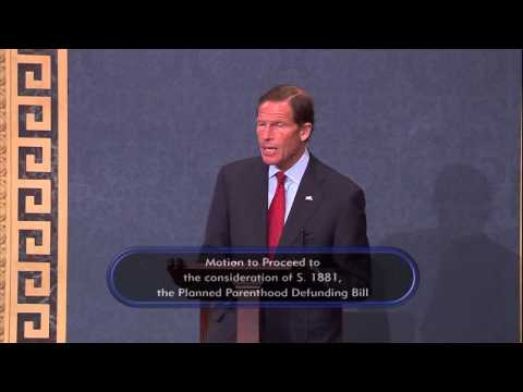 Blumenthal Speaks Against Baseless, Anti-Women GOP Attacks on Planned Parenthood