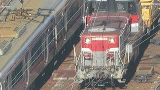JR貨物 DE101165(国鉄DD51形ディーゼル機関車)愛知機関区 名古屋駅付近で撮影 2018.12.8