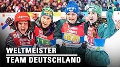 GOLD für unsere Skispringerinnen im Team-Wettkampf! l Seefeld 2019