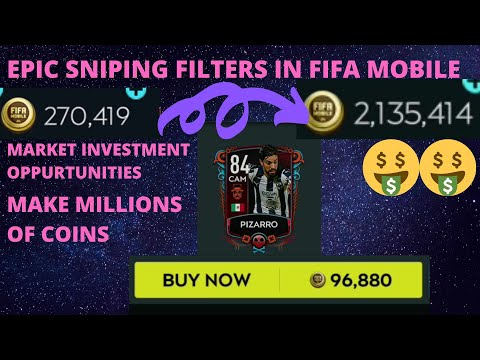 EPIC SNIPING FILTERS IN FIFA MOBILE 20 How To Make Coins In Fifa Mobile 20 Market