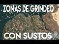 ZONAS DE GRINDEO CON SUSTOS   ZONAS DONDE SERÁ PREFERIBLE GRINDEAR