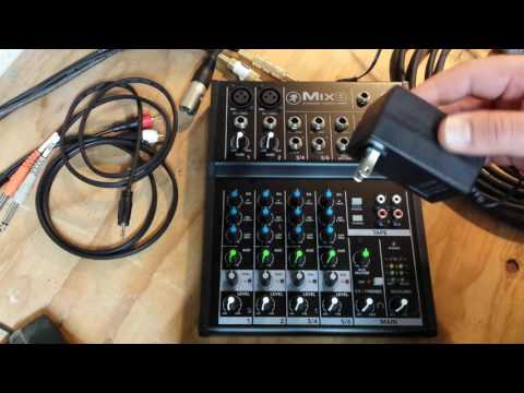 How to use an analog audio mixer