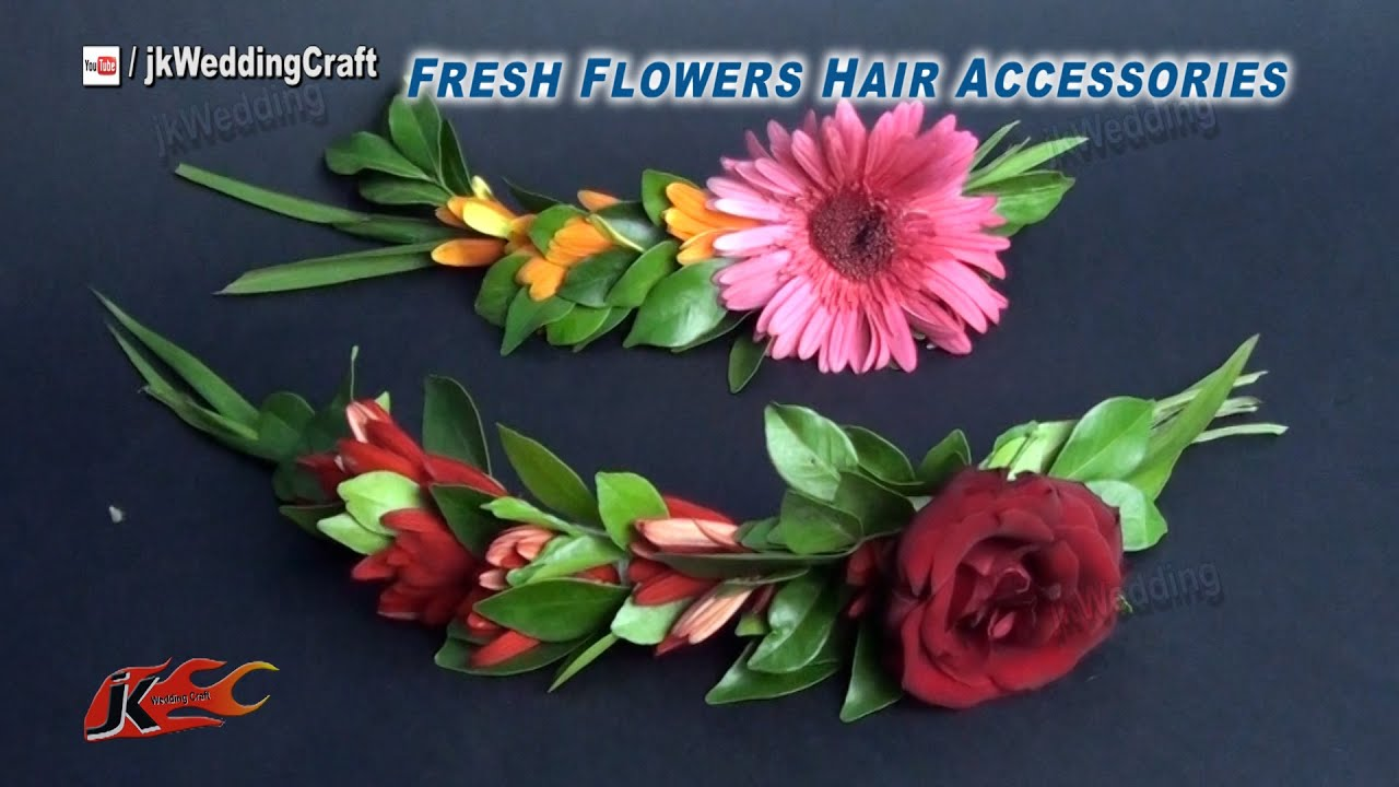Diy How To Make A Fresh Flower Hair Accessories Jk Wedding