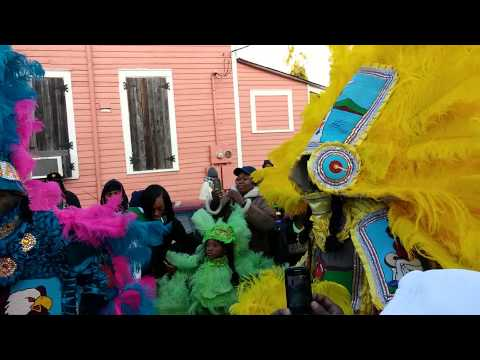 Uptown Indians on Mardi Gras Day 2015