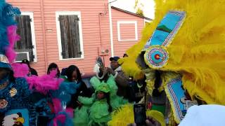 Uptown Indians on Mardi Gras Day 2015