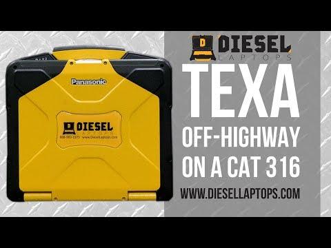 TEXA Off Highway on CAT 316 Excavator - DPF Regen, Injector Coding, & More