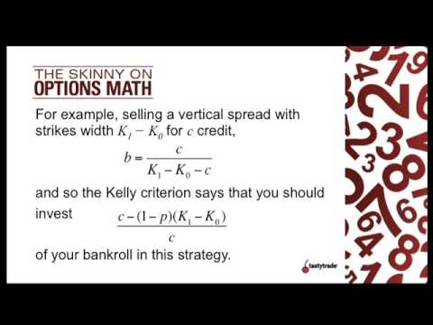 The Kelly Criterion for Trading Options