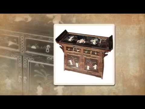 Oriental Chinese Furniture Black Alter Cabinet