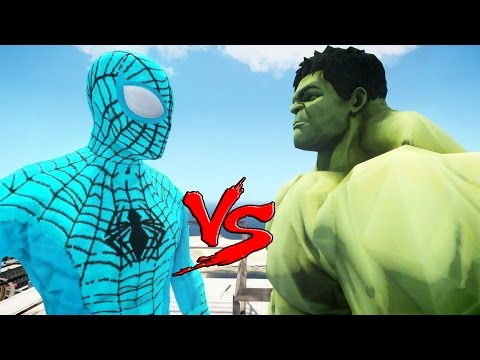 The Amazing Blue Spiderman vs The Incredible Hulk