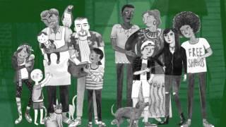 The Lotterys Plus One by Emma Donoghue, illustraed by Caroline Hadilaksono