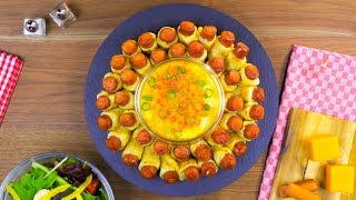 Ein Schweizer Traditionsgericht, neu interpretiert: das Mini Hot Dog Fondue. thumbnail
