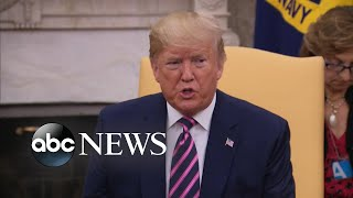 Trump Says Impeachment Is 'a Witch Hunt It's A Sham It's A Hoax'  Abc News