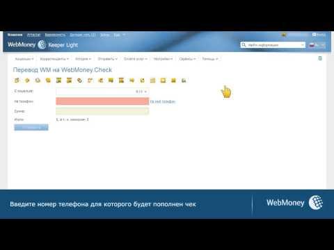 WebMoney Keeper Light: пополнение WebMoney Check