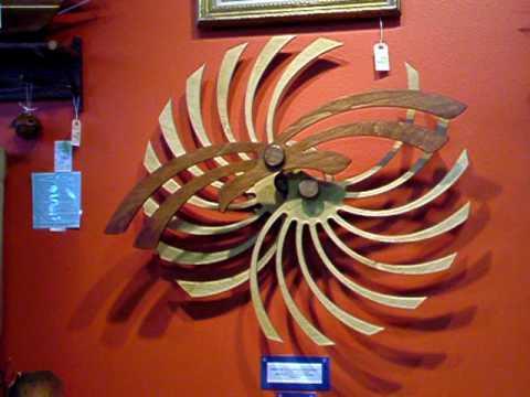 Kinetic Art Sculpture by Nick Diemel, Wall Motion Art - YouTube