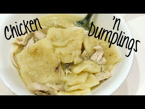 Homemade Chicken n Dumplings | Easy Dinner Idea | Cook With Me