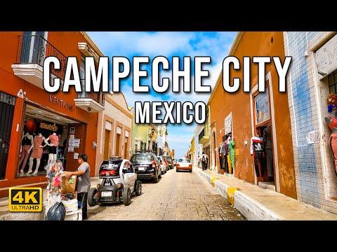 Historic Campeche City Drive | Campeche | Mexico [4K]