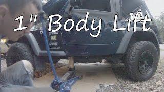 "Project TJ Wrangler: Ep 24- 1"" Body Lift Install"