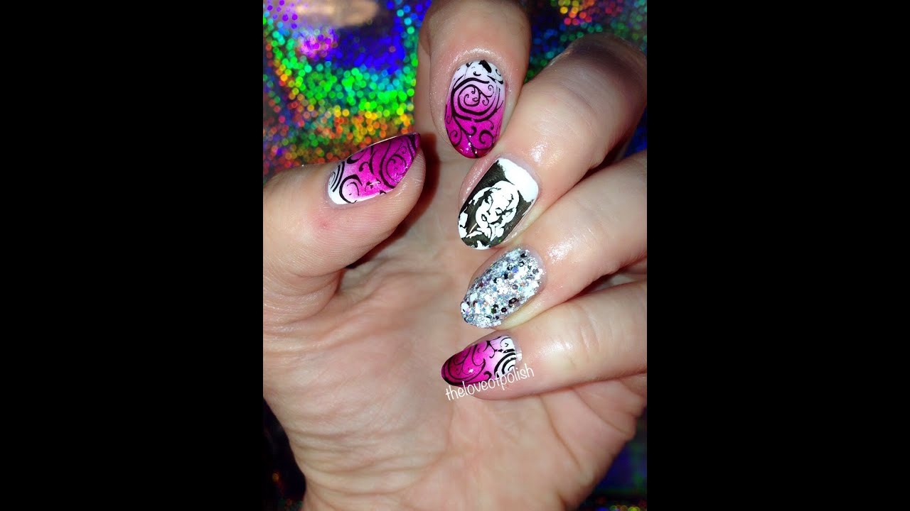 Marilyn Monroe Nail Stamping - YouTube