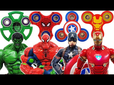 Avengers, Fidget Spinner Go~! Spider-Man, Captain America, Bumblebee, Hulk! Transformer! Iron Man
