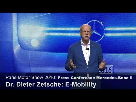 Mercedes Press Conference: E-Mobility – Dr. Dieter Zetsche – Paris Motor Show 2016 [en]