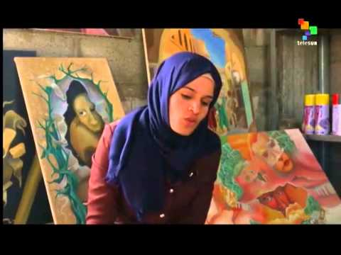 Young Palestinian artists turn rubble into art