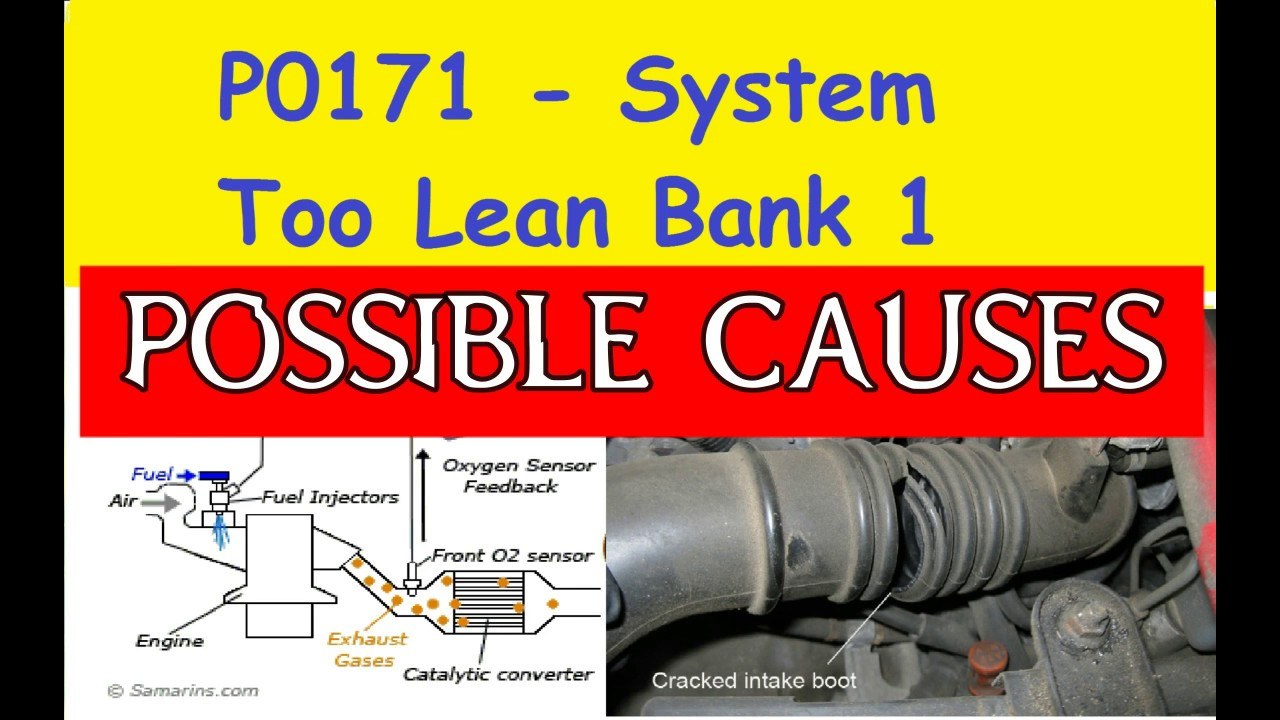 medium resolution of p0171 system too lean bank 1