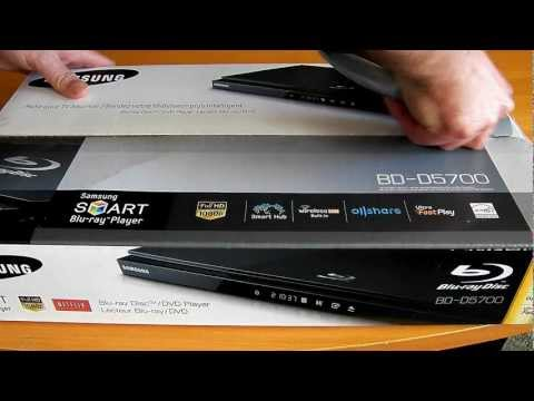 Samsung BD-D5700 Blu-ray player unboxing, first view and impression