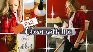 🍂FALL CLEAN WITH ME🍁 | ENTIRE MAIN FLOOR | EXTREME CLEANING MOTIVATION