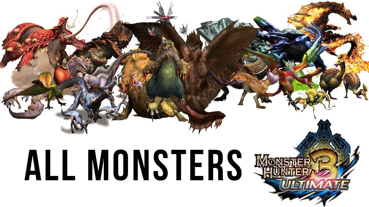 All Monsters Monster Hunter 3 Tri Ultimate Yan Youtube
