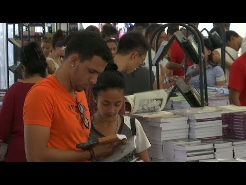 Cuba's International Book Fair showcases country's love of l