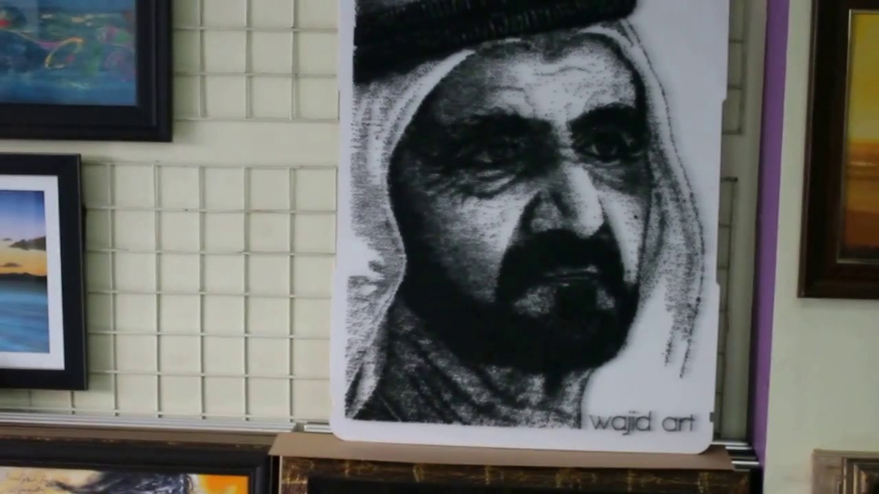 Dubai King Portrait - Amazing Iron Nail Art - YouTube